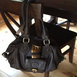 Chloe paddington brown leather bag